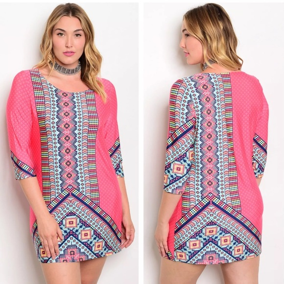 Dresses Womens Pink Plus Size Babydoll Tunic Dress Poshmark